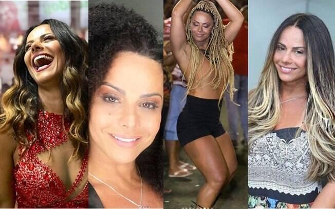 Viviane Araújo mudou de cabelo quatro vezes durante o mês