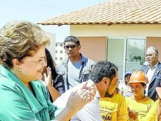 Inédito. Essa foi a primeira visita de Dilma Rousseff ao Estado do Amapá desde que foi eleita presidente