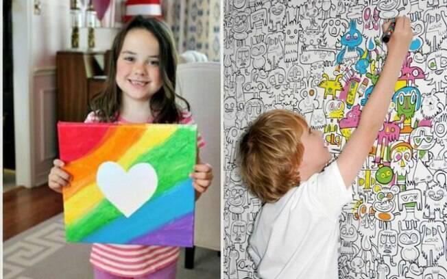 Quer relembrar a infância ou homenagear o filho? Desenhos na parede são uma alternativa para a personalização