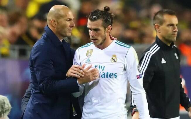 Zidane e Gareth Bale no Real Madrid