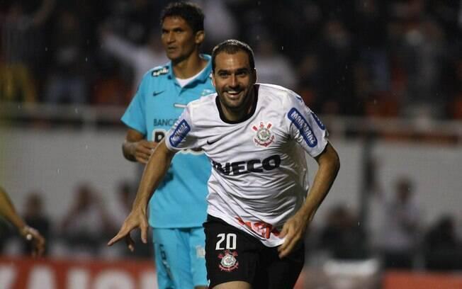 Foi dele o gol da classificação contra o  Santos na semifinal da Libertadores