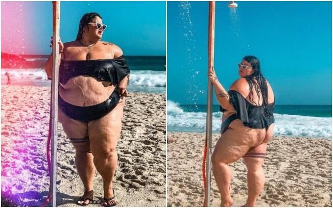 A bailarina Thais Carla inspira outras mulheres a aproveitarem o verão independente dos seus corpos