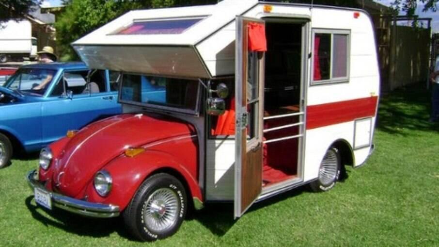 Americana RQR fez nos anos 70 a versão Camper do Fusca com capacidade para apenas duas pessoas