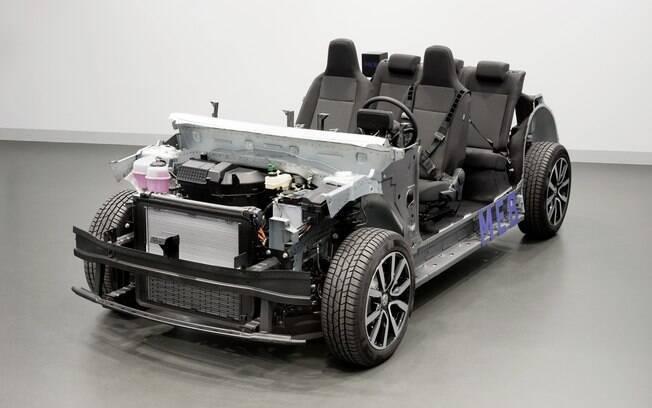 Plataforma MEB, que dará origem aos lançamentos da Volkswagen e da aliança com a Ford