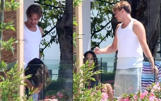 Leonardo DiCaprio com a morena anônima