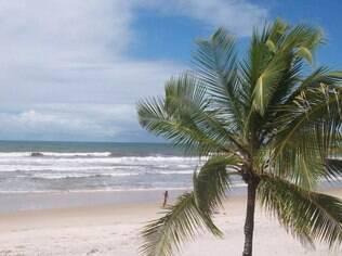 Vista da praia em Comandatuba