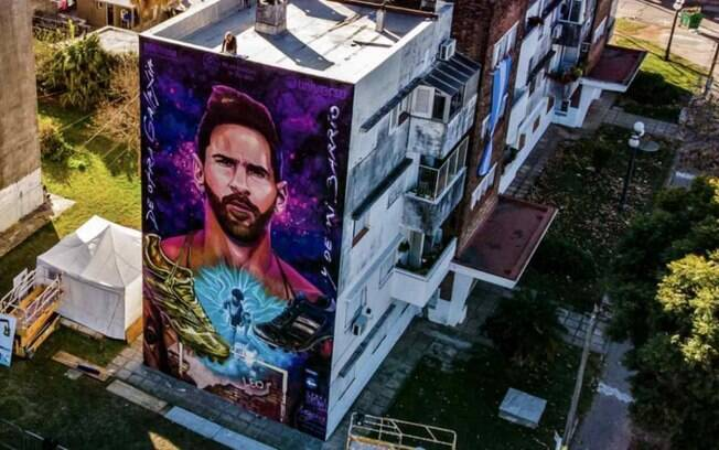 Mural do Messi