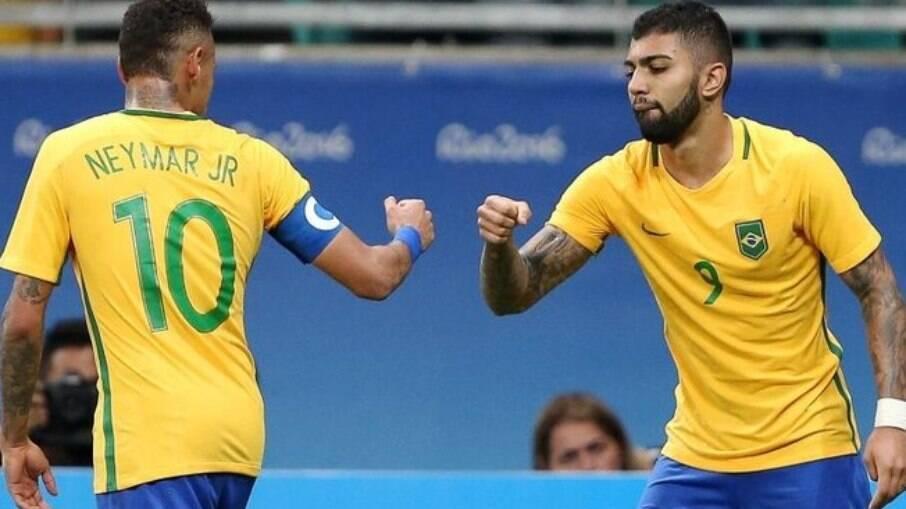 Gabigol e Neymar formarão dupla na seleção
