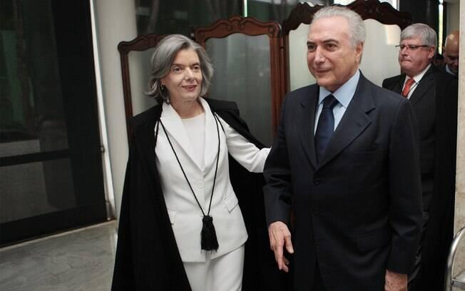 Presidente do STF, ministra Cármen Lúcia, com o presidente da República, Michel  Temer (PMDB)