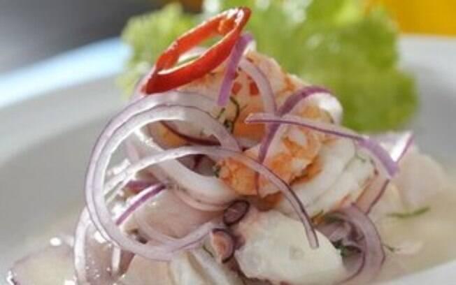 Foto da receita Ceviche Misto pronta.