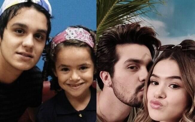 Maisa e Luan Santana tem reencontro e mostram o antes e depois na web