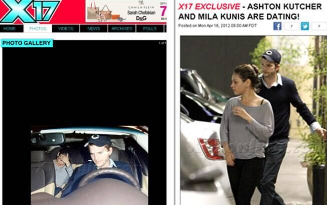 Ashton Kutcher e Mila Kunis em flagra deste domingo (15)