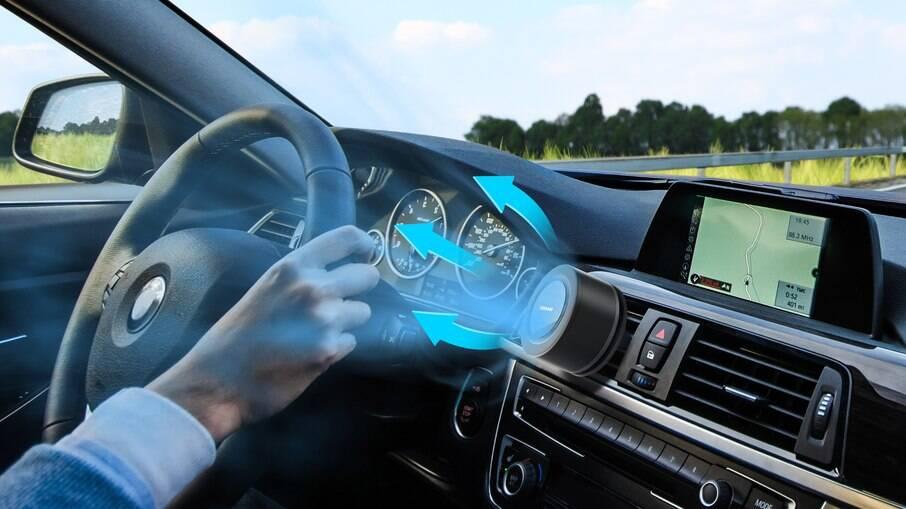 Osram Airzing Mini: fabricante diz que aparelho elimina 99,9% dos vírus e bactérias dentro do veículo