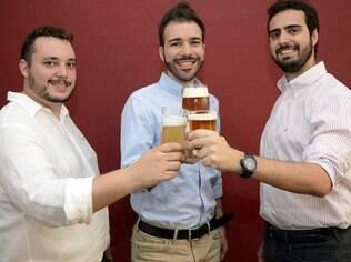 Matheus Franco, Carlos Lima e Luiz Poppi