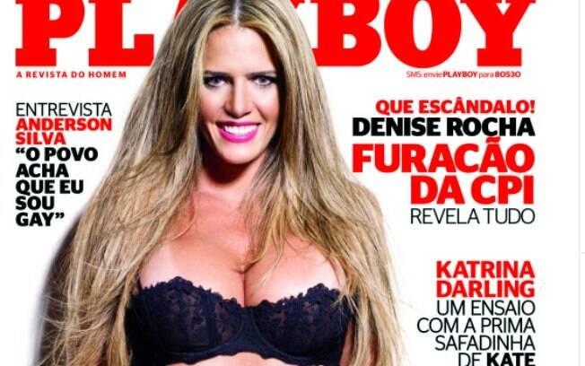 Denise Rocha foi capa da Playboy de agosto de 2012 e apelidada de Furacão da CPI. Foto: Reprodução