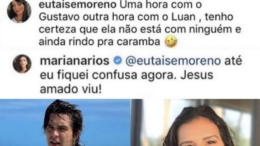 Mariana Rios repercute notícia no Instagram