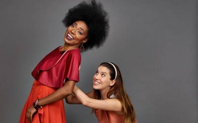 """Nathalia Dill e Vila Mello no espetáculo """"Fulaninha e Dona Coisa"""", em cartaz no Teatro Bradesco"""
