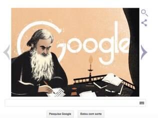 Doodle faz homenagem a Leo Tolstoy