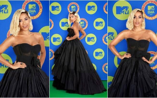 Anitta foi vestida no MTV EMA 2020 pela grife Dolce & Gabbana