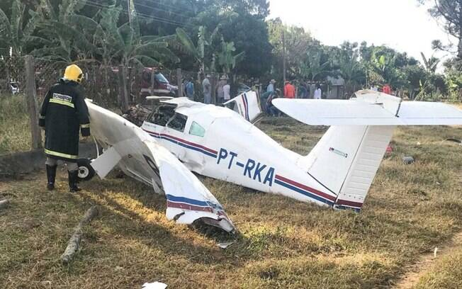 Acidente com o avião de pequeno porte aconteceu no KM 58 da DF-118, na divisa entre Planaltina de Goiás e Água Fria