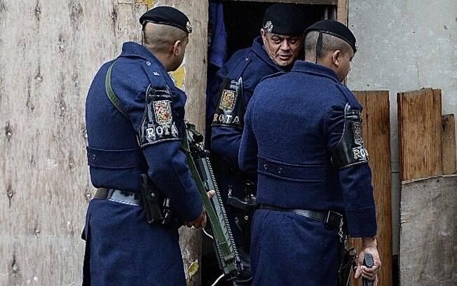 Policiais de ROTA estão na rua para garantir a segurança do cidadão