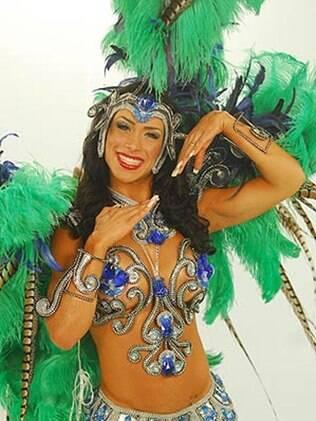 Fabiana Rodrigues Gonçalves em 2010 no concurso de carnaval do 'Caldeirão do Huck'
