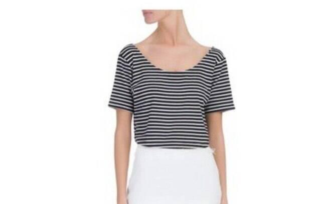 Blusa Cropped Listras Rio Tea Shirt, por R$ 68,90 na promoção