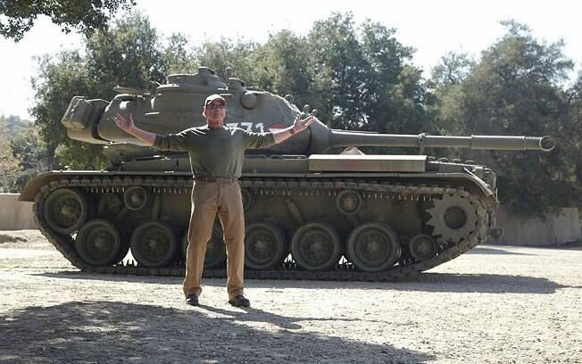 Arnold Schwarzenegger e o seu tanque M47 Patton