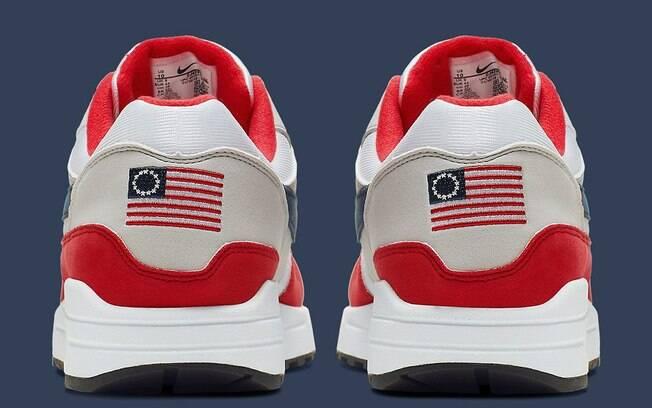 Nike cancela lançamento de tênis com estampa de bandeira polêmica usada entre 1777 e 1795