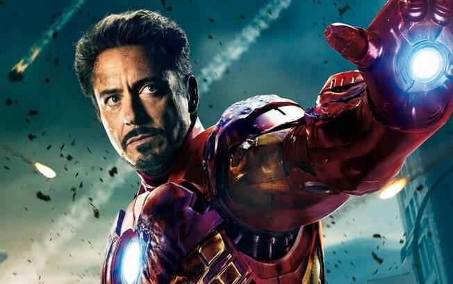 Robert Downey Jr. como o Homem de Ferro