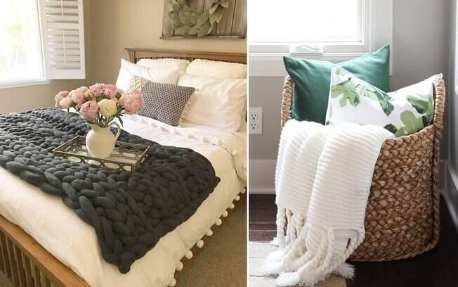 Para deixar o cômodo confortável, manter cobertores e almofadas à disposição do hóspede é uma boa ideia