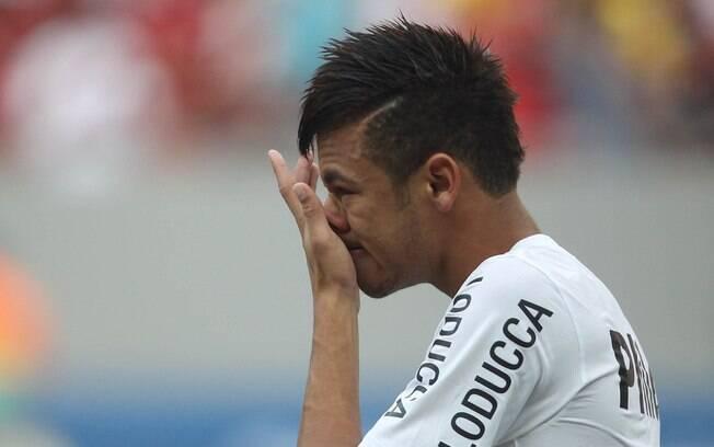 Neymar chorou no último jogo pelo Santos