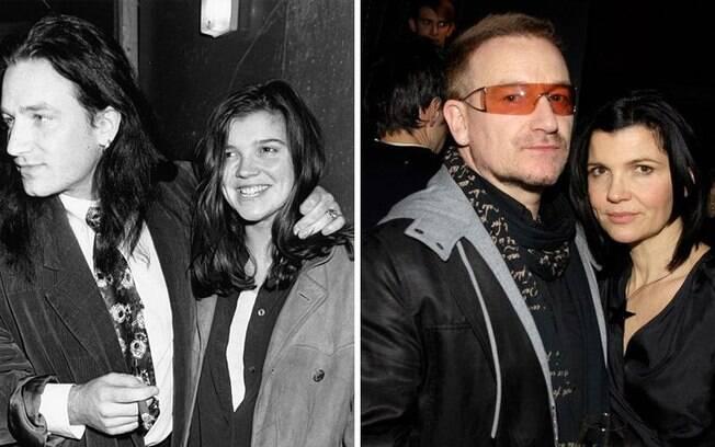 Famosos que estão há muito tempo juntos: Bono Vox e Alison Hewson