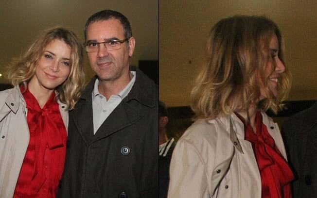 Christine Fernandes ao lado do marido Floriano Peixoto