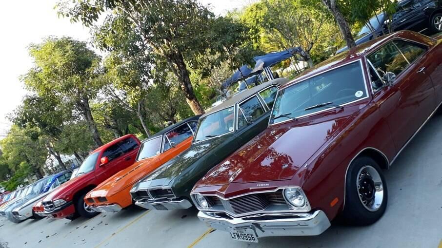 Encontro Chrysler Clube do Brasil, o popular Mopar Nationals, reúne anualmente alguns dos modelos antigos e atuais