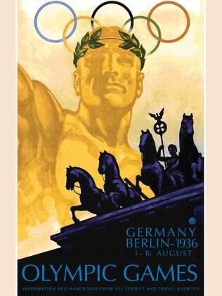 O cartaz dos Jogos Olímpicos de 1936