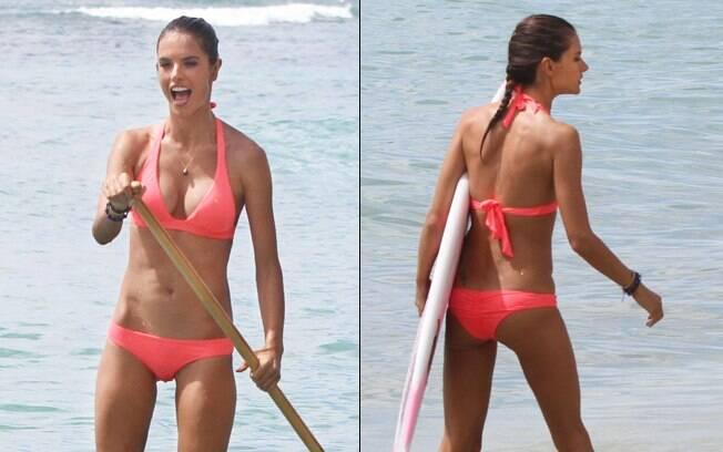Alessandra Ambrosio para a Victoria's Secret
