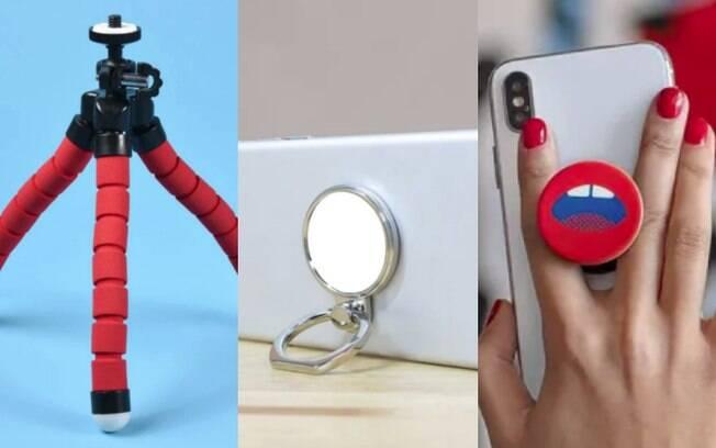 Acessórios para celular ajudam a tirar fotos melhores, deixam o uso do aparelho mais confortável e mais