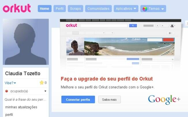 Google exibe aviso para estimular usuários a integrar contas do Orkut e Google+