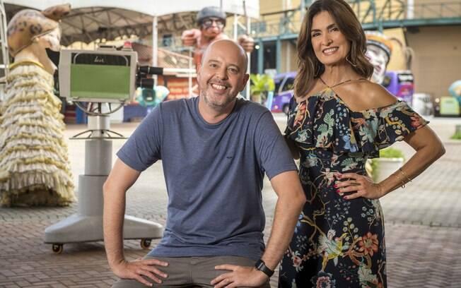 Na Globo, Fátima Bernardes e Alex Escobar apresentam as escolas do Grupo Especial do Rio