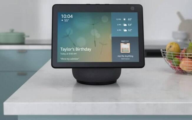 Amazon Echo Show 10 tem tela que rotaciona