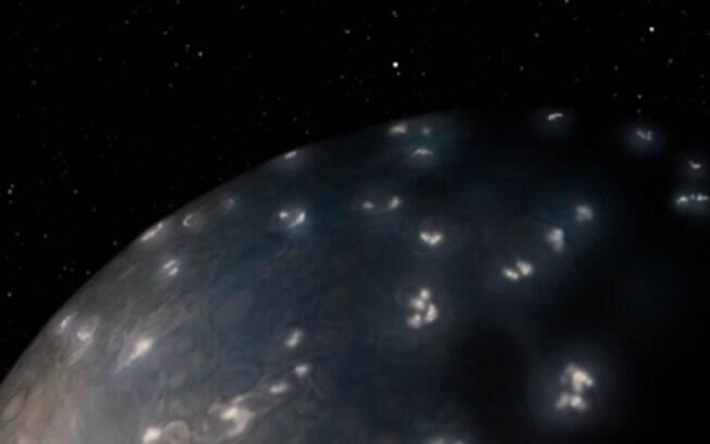 Missão Juno da Nasa revelou as semelhanças e as diferenças entre os relâmpagos produzidos em Júpiter e no planeta Terra