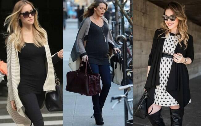 Cardigan é uma peça super legal para as mamães investirem porque, além de estar em alta, dá para ser usada após o parto
