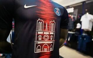 PSG vende mil camisas com imagem da catedral de Notre Dame em 30 minutos