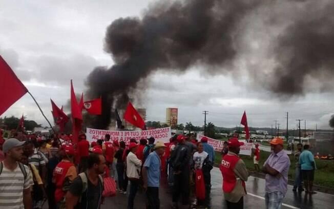 Manifestações desta quinta-feira (10) foram convocadas por movimentos sociais e pela Frente Brasil Popular. Foto: Frente Brasil Popular/Divulgação - 10.05.16