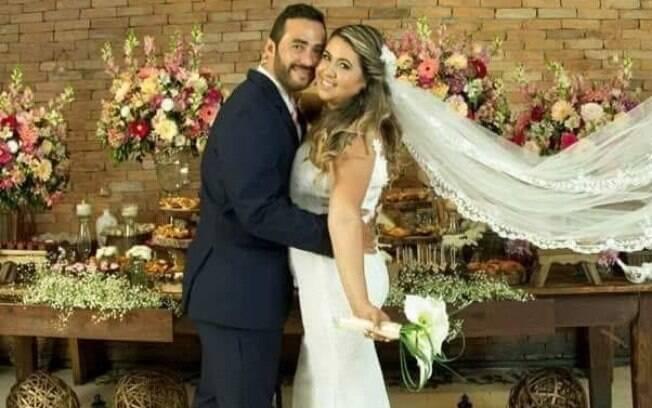 Renata e Jorge Amaral se conheceram em um aplicativo de relacionamento cristão e depois de um tempo eles se casaram