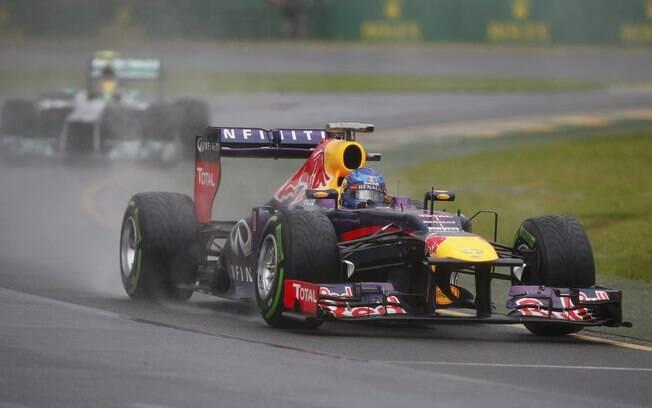 Sebastian Vettel durante o treino  classificatório em Melbourne, na Austrália
