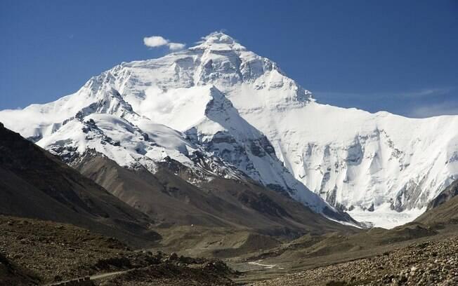 O Monte Everest é a montanha mais alta do planeta