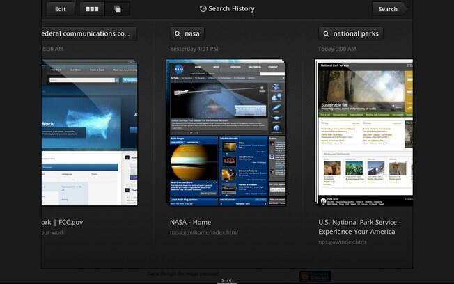Novo aplicativo de busca do Google permite alternar resultados como em galeria de fotos