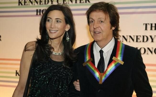 Nancy Shevell e o noivo Paul McCartney